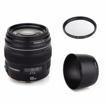 YONGNUO YN100mm 100mm F2 Grote Diafragma AF/MF Medium Tele Prime Lens Fixed Focus Lens voor Canon nikon DSLR EOS Camera