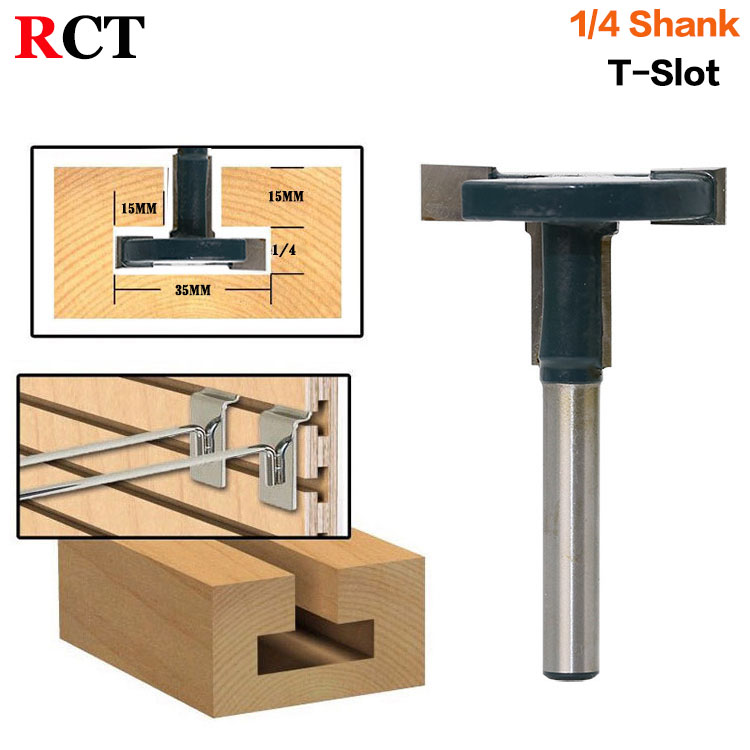 1pcs Top Quality T-Slot & T-Track Slotting Router Bit - 1/4Shank For Woodworking Chisel Cutter Wholesale Price