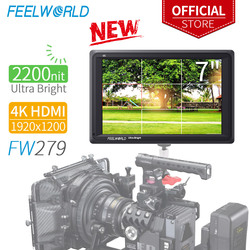 FEELWORLD FW279 7 pulgadas Ultra brillante 2200nit en campo cámara DSLR Monitor Full HD 1920x1200 HDMI de 4 K entrada y salida de alto brillo