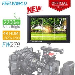 Image 1 - Feelworld FW279 7 インチ超高輝度 2200nitカメラフィールドデジタル一眼レフモニターフルhd 1920 × 1200 4 hdmi入力出力高輝度