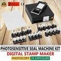 220В фоточувствительная портретная машина для флэш-печати комплект самостоятельной штамповочная машина