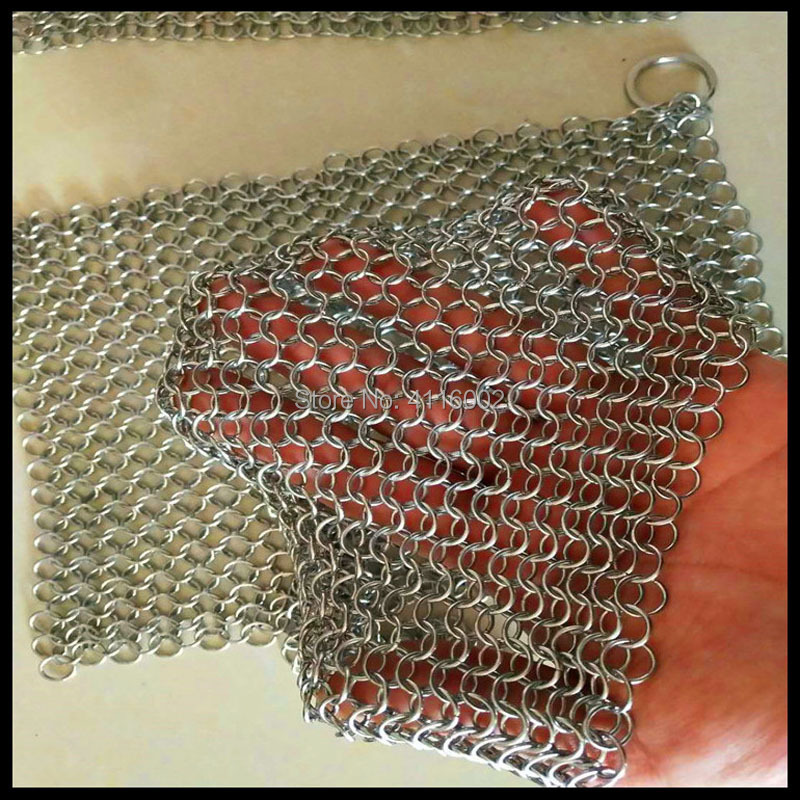 20*15cm Iron Cleaner Stainless Steel Chainmail Palm Brush Scrubber Kitchen Gadgets Wash Tool Pan Dish Bowl