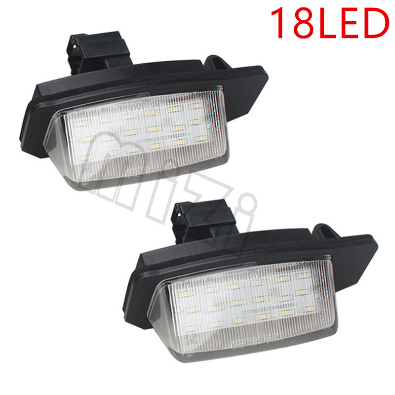 18LED License plate light number plate lamp for Mitsubishi OUTLANDER 2006-2012 Lancer Sportback 2008~ with CE E-MARK certificate motorcycle tail tidy fender eliminator registration license plate holder bracket led light for ducati panigale 899 free shipping