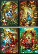 Embroidery Counted Cross Stitch Kits Needlework   Crafts 14 ct DMC Color DIY Arts Handmade Home Decor   Alice in Wonderland