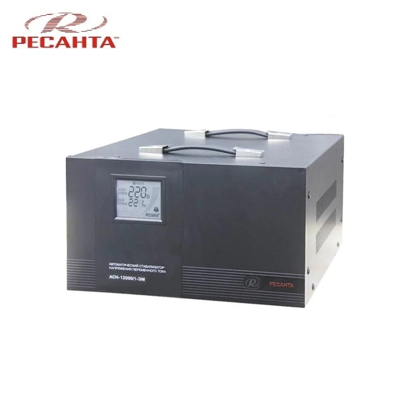 Single phase voltage stabilizer RESANTA ASN 12000/1 EM voltage regulator resanta asn 12000 n1 c