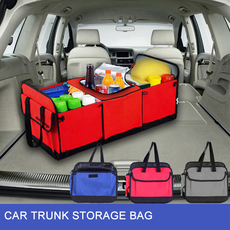 Car Storage Box organizer Beverage Food Insulation Ice bag for trunk Auto boot pouch Automobiles Interior Accessories ...