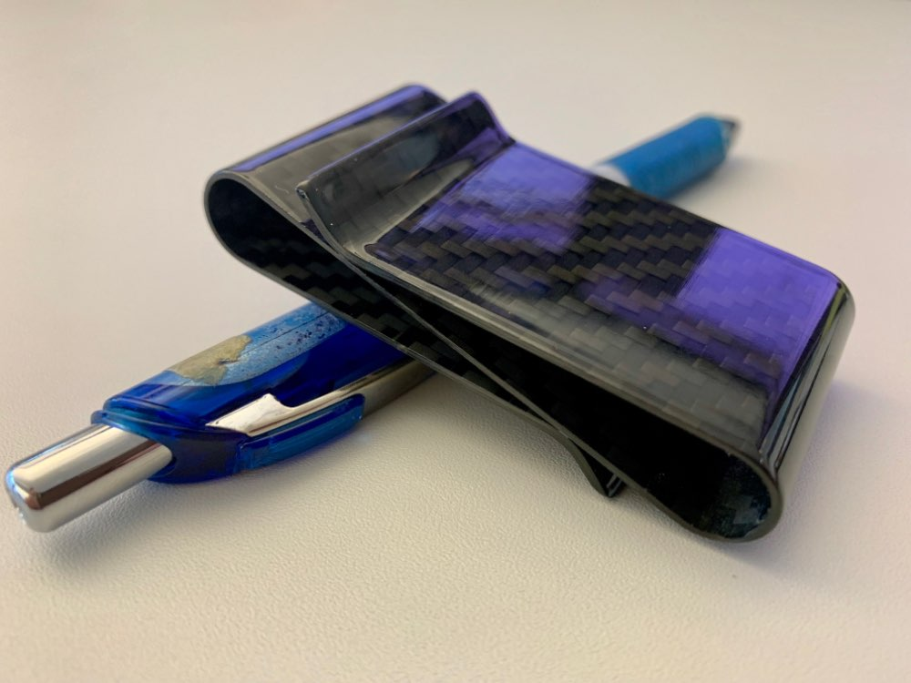 Top Grade Genuine 3K Twill Double Carbon Fiber Money Clip,Deluxe Double Sides Multifunction Money Clips photo review