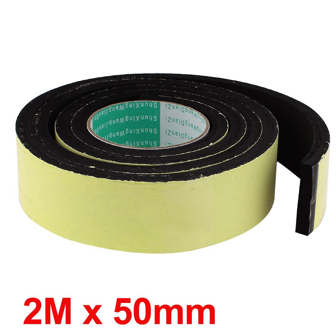 X Autohaux 2M Long 50Mm X 10Mm Door Window Single Side Adhesive Foam Sealing Tape Strip