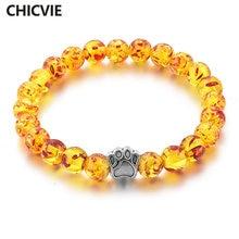 Chicvie желтый браслет для йоги лапа эластичный веревочный женщин