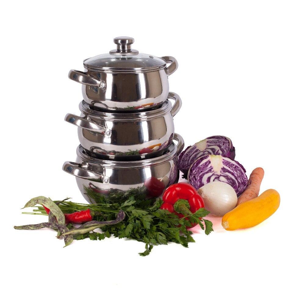 Casseroles ENSEMBLE Vetta 6 pcs., CRAYONS 1,7/2,4/2,9 AVEC COUVRE Cuisine couteau thermos plat vaisselle haute qualité vente au rabais 822-028