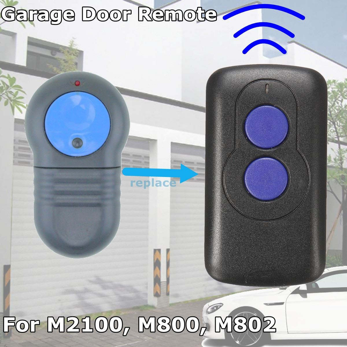 40.685Mhz Replacement Garage Door Gate Remote Control Transmitter Electric Duplicator For Merlin M802