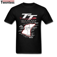Mountain Course Map Isle Of Man Tt T Shirt Men Short Sleeve Crewneck Cotton Plus Size