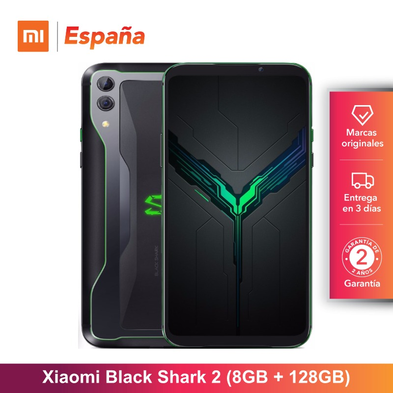[Version globale pour l'espagne] Xiaomi Black Shark 2 (mémoire interna de 128 go, mémoire RAM de 8 go, mémoire double de 48MP + 12MP de Camara) Movil