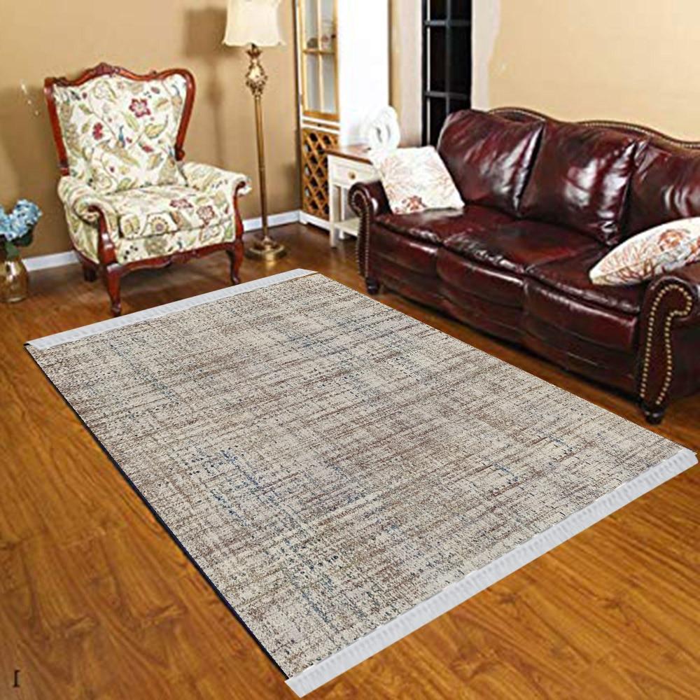 Else Gray Brown Retro Stripes Lines Geometric 3d Print Anti Slip Kilim Washable Decorative Kilim Tassel Rug Bohemian Carpet