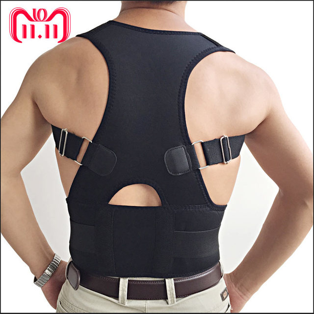 2779e58ca AOFEITE Adjustable Neoprene Upper Back Posture Corrector Clavicle Support  Belt Back Brace Support Belt For Back Straightener