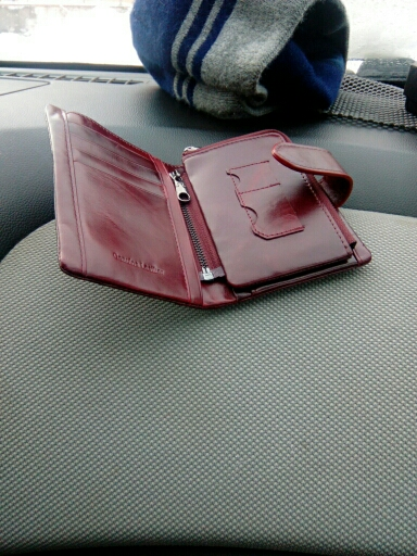 небольшой бумажник женщин; Основной Материал: Натуральная Кожа; Сач; 1 цент монета;