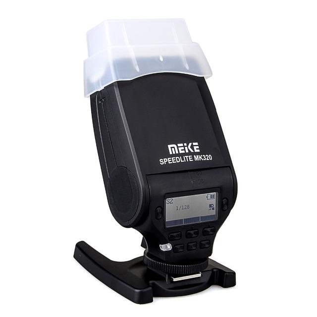 MEIKE MK-320 ttl flash lampa błyskowa Speedlite do Panasonic Lumix DMC GX85 GH5 FZ280 FZ300 G85 GH4 GH5S GF7 GM5 GH4 GM1 GX7 G6 GF6 GH3 tanie i dobre opinie MK-320 for Panasonic Fujifilm 5600k flash speedlite aa battery