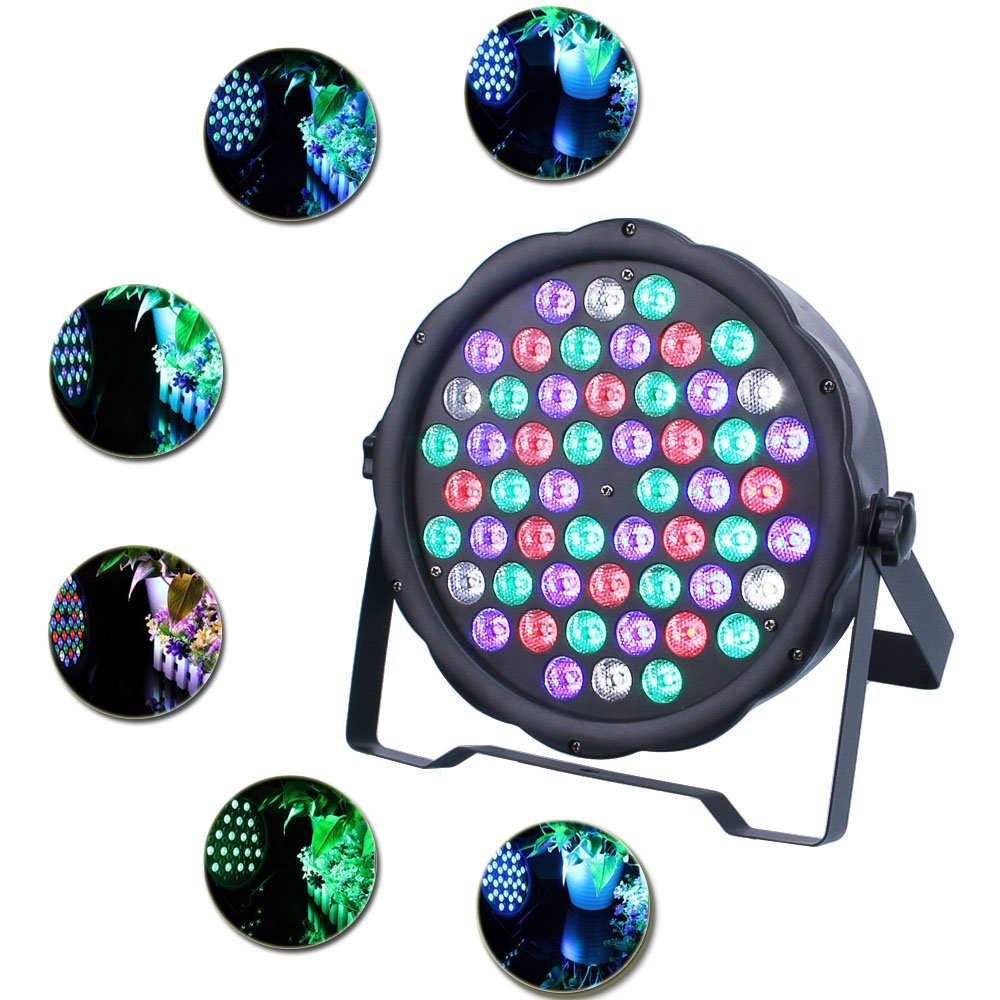 LED Stage Lights 54 Led PAR LED DMX Stage Lighting Effect DMX512 Master-Slave Led Flat for DJ Disco Party KTV premium led stage lights 18w rgb led flat par light stage lamp dmx512 disco dj bar effect up lighting for dj disco party ktv