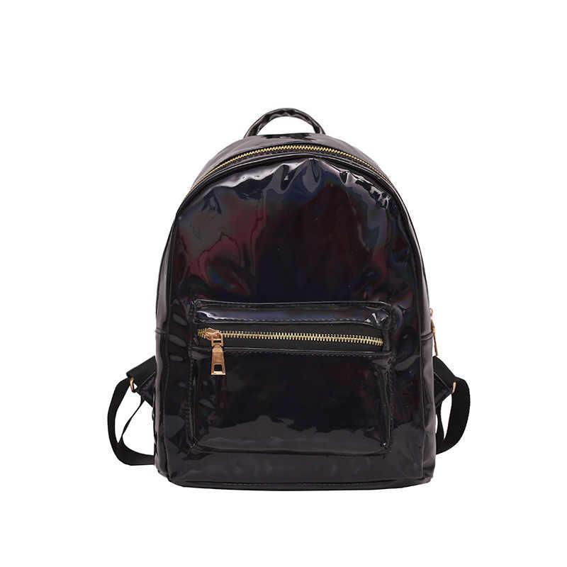 LUYO новый лазерный кожаный женский серебряный крутой светящийся яркий рюкзак женские школьные сумки рюкзаки для подростков девочек Сумка Рюкзак