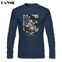 Attack On Titan Long Sleeve Round Neck Cotton T shirts (4 colors)