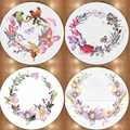 آخر الأزهار الزهور الطيور الوردي الأرجواني 3d غير زلة ستوكات جولة السجاد منطقة البساط ل غرف المعيشة المطبخ غرفة نوم الحمام