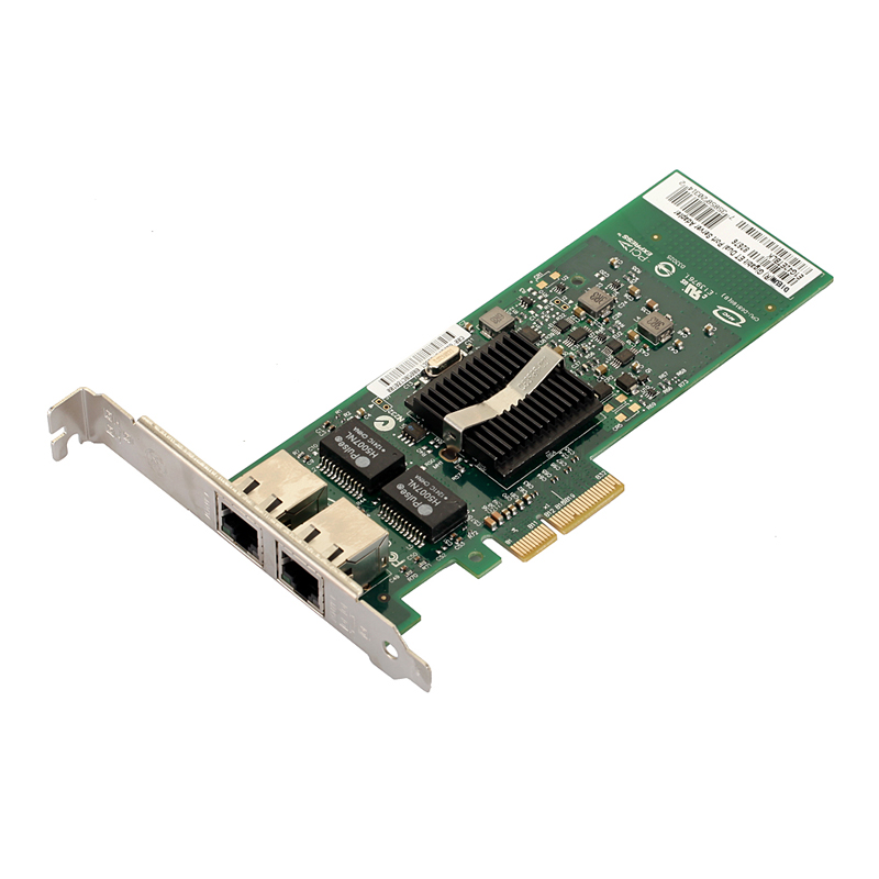 Intel 82576 E1G42ET Server Desktop Chipset Gigabit PCI-E Network Card 1000Mbps Double RJ45 Port NIC Adapter ROS Convergence VDMC wyi350t4 rj45 pci e gigabit ethernet network adapter card nic inteli350 t4 i340 t4