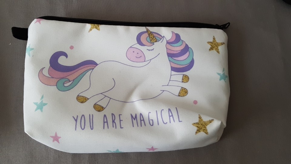 Pochette Maquillage Licorne photo review