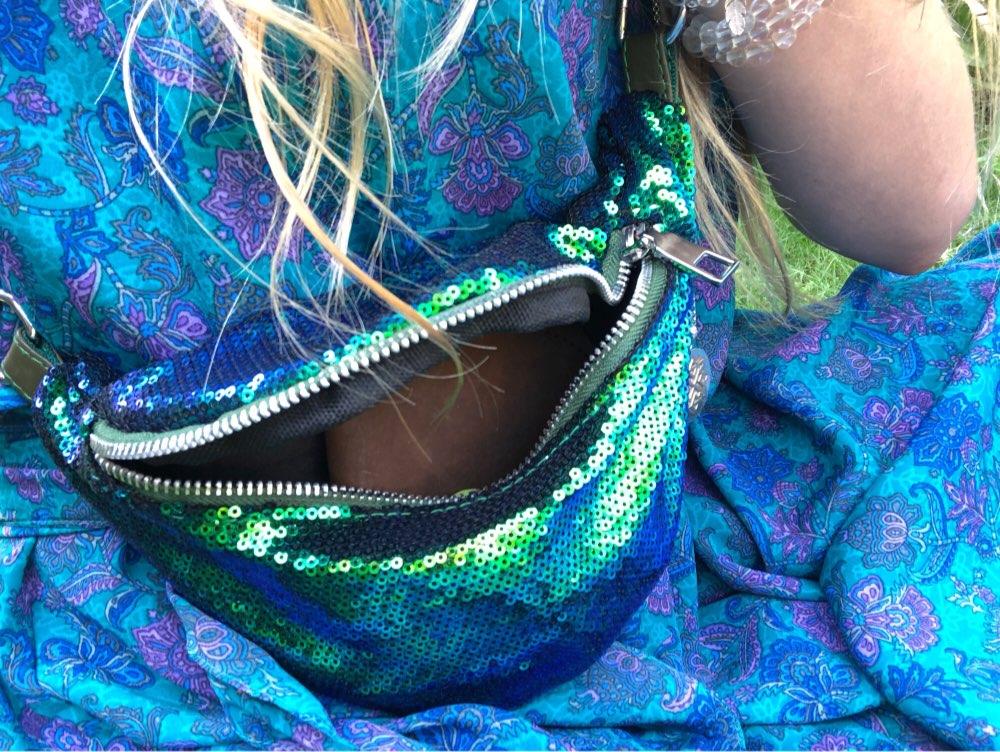 Shining Waist Pack Women Mermaid Sequins Waists Trendy Packs Designer Girls Fashion Hip Bum Belt Bag 2019 Reversible Waist Bags photo review