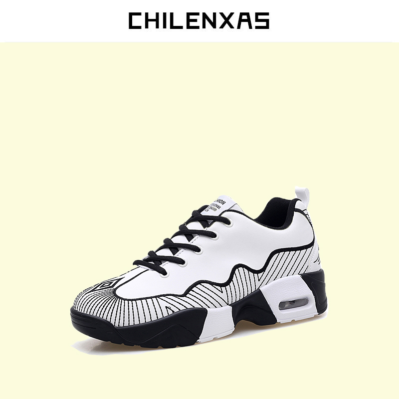 CHILENXAS Autumn Winter Large Size 35-45 Leather Men Casual Shoes Lace-up Breathable Lovers Height Increasing Fashion Waterproof chilenxas 2017 leather men casual shoes style flats breathable height increasing new fashion lace up solid spring autumn light