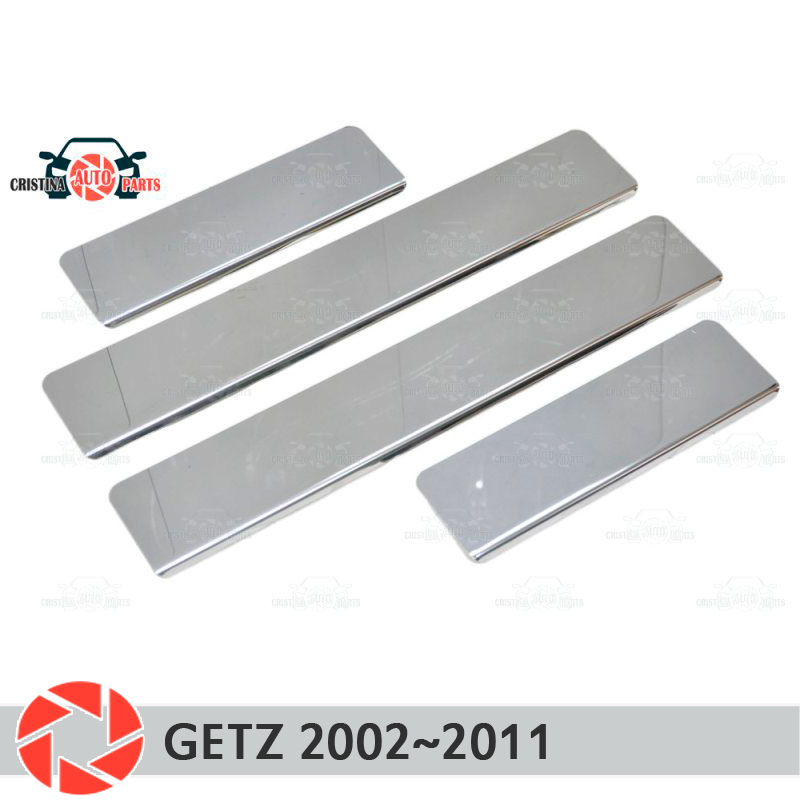 Door sills for Hyundai Getz 2002~2011 step plate inner trim accessories protection scuff car styling decoration clear custom made car styling led moving light door sills scuff step plate for hyundai santa fe ix45 fit 2010 2011 2012 2013 2014