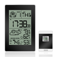Multi functional LCD Display Indoor Outdoor 433MHz Temperature Humidity Weather Station