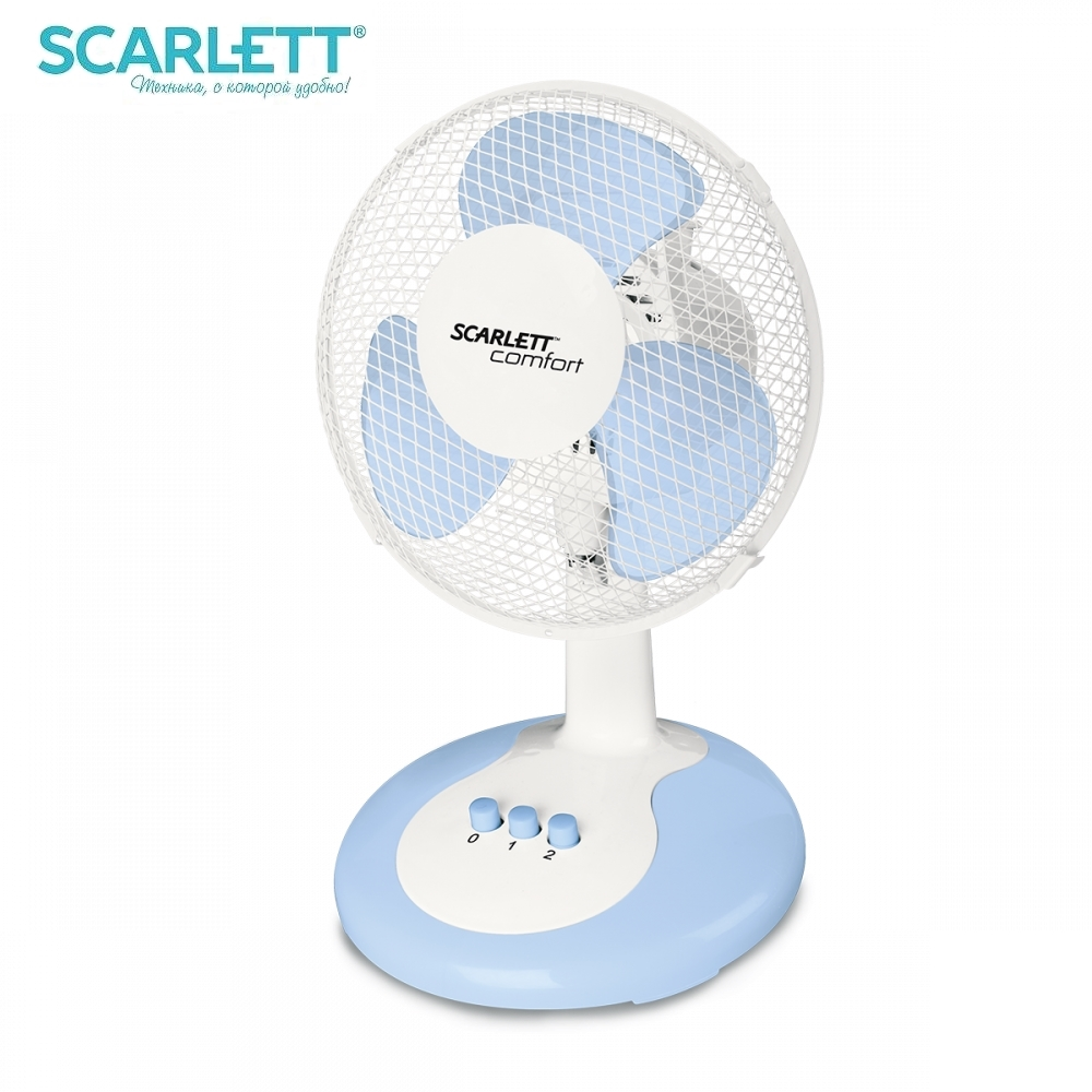 купить Fan desktop Scarlett SC-DF111S06 desktop fan mini air conditioner air cooler ventilation cooler fans по цене 1251 рублей