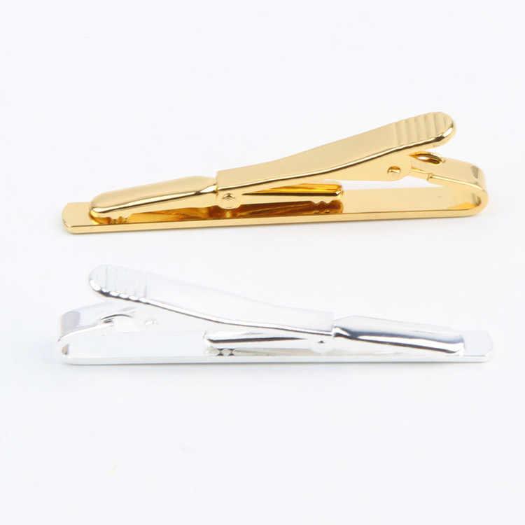 1pc Simple Practical Fashion Silver Gold Enamel Men Necktie Tie Bar Clasp Clip Cufflinks Set Gift Tie-020