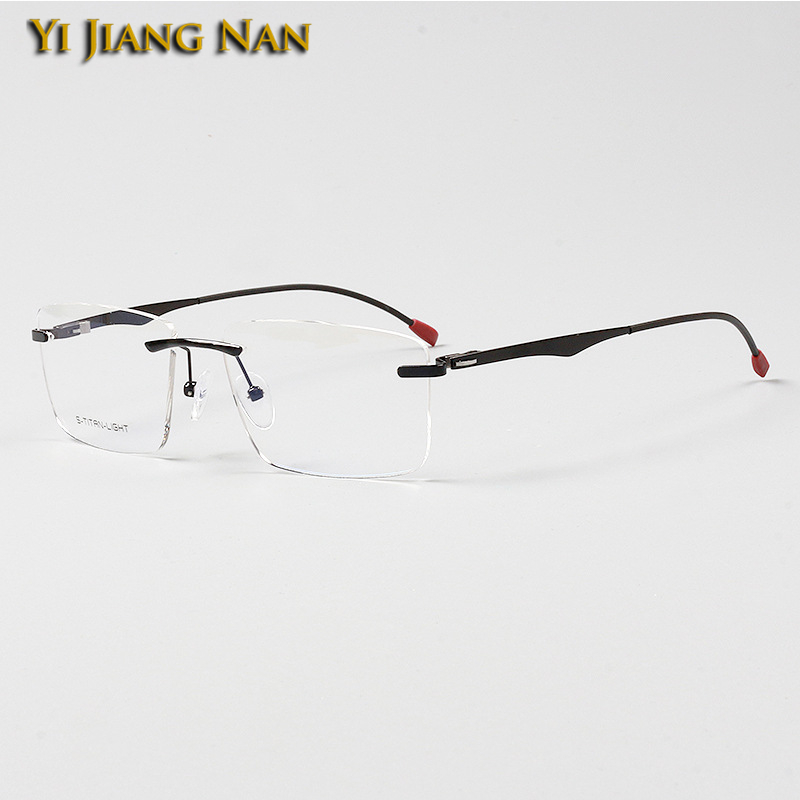 Yi Jiang Nan Fashion Rimless Optical Glasses Lentes Mujer Prescription Eyeglass Lunette De Vue Femme Spectacle Okulary Korekcyjn