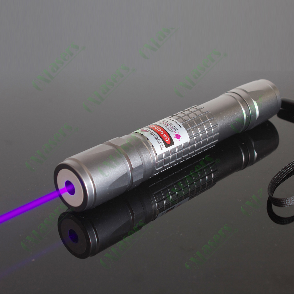 oxlasers OX-V40 405nm UV laser high power violet blue laser pointer flashlight with 5 star caps purple lasers free shipping