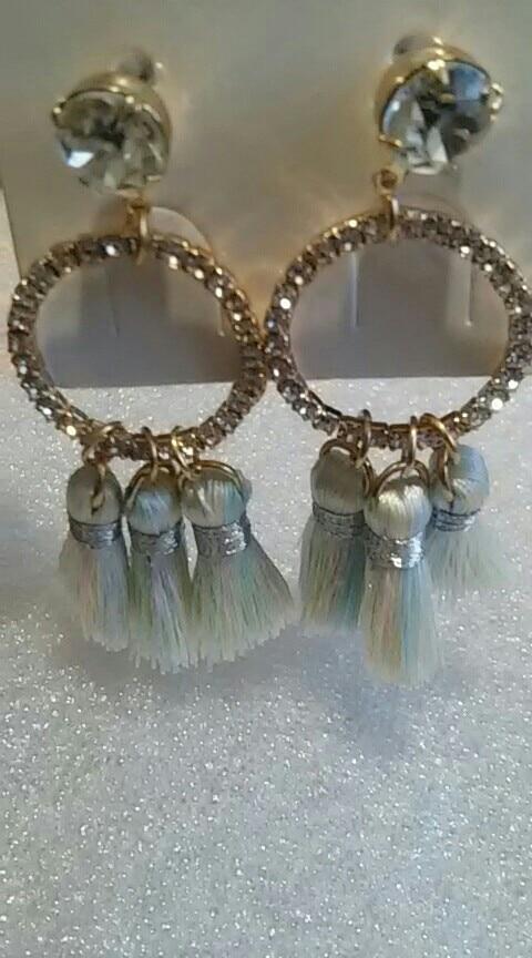JO'SYJSP  Vintage Temperament Multi-color Geometric Rhinestone Alloy Tassel Long Earrings Women Girls Fringle  Brincos