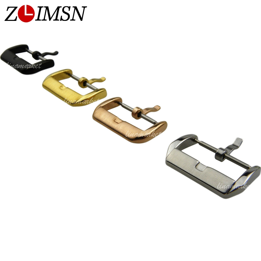 ZLIMSN Stainless Steel Metal Buckle Silver Gold Rosegold Black Watch Clasp 10 12 14 16 18 20 22mm Relojes Hombre 2019 K19