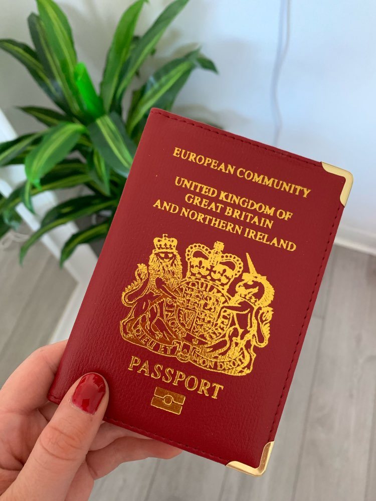 Travel Accessories Nice Passport Covers Uk United Kingdom Case for Passport Pink Ireland Europe Women Girls Passport Cover photo review