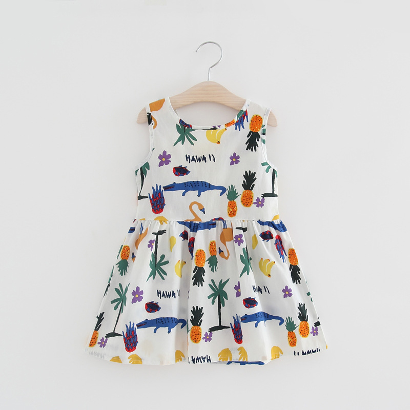 Newest Style Summer Baby Kid Cotton Vest Princess Girls Dress Newborn Infant Sundress Cl ...