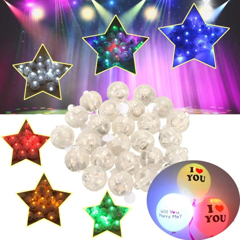 Multicolor Round Led Flash Ball Lamp Balloon Light 100pcs/lot For Paper Lantern Balloon Light Party Wedding