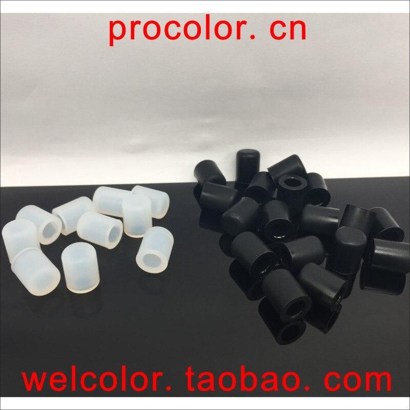 Силиконовые резиновые колпачки для защиты от пыли, вакуумные колпачки с пробкой, ID 1,0, 1, 1,5, 2 мм, 2,0, 2, 2,5, 5/64 дюйма, OD 3,8, 4,5, 4,76, 4,8, 3/16 мм