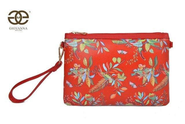 394e136da Giovanna Milano Bolso mujer de mano con bandolera clutch para fiesta PU con  flores estampadas moda