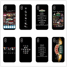 Central Perk Coffee friends tv show how you doin Black silicone Phone Case Cover For iPhone X 5 11 11PRO MAX SE 6 6SPlus 7 PLUS