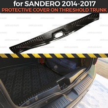 Protective cover for Renault Sandero / Stepway 2014 2017 on threshold trunk luggage ABS plastic trim car accessories protection