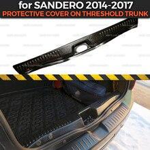الغطاء الواقي لرينو سانديرو/Stepway 2014 2017 على عتبة جذع الأمتعة ABS البلاستيك تقليم اكسسوارات السيارات الحماية