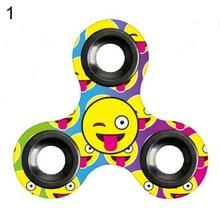 Funny Smile Trick Emoticon Fidget Hand Spinner Stress Relief Focus Desk Toy