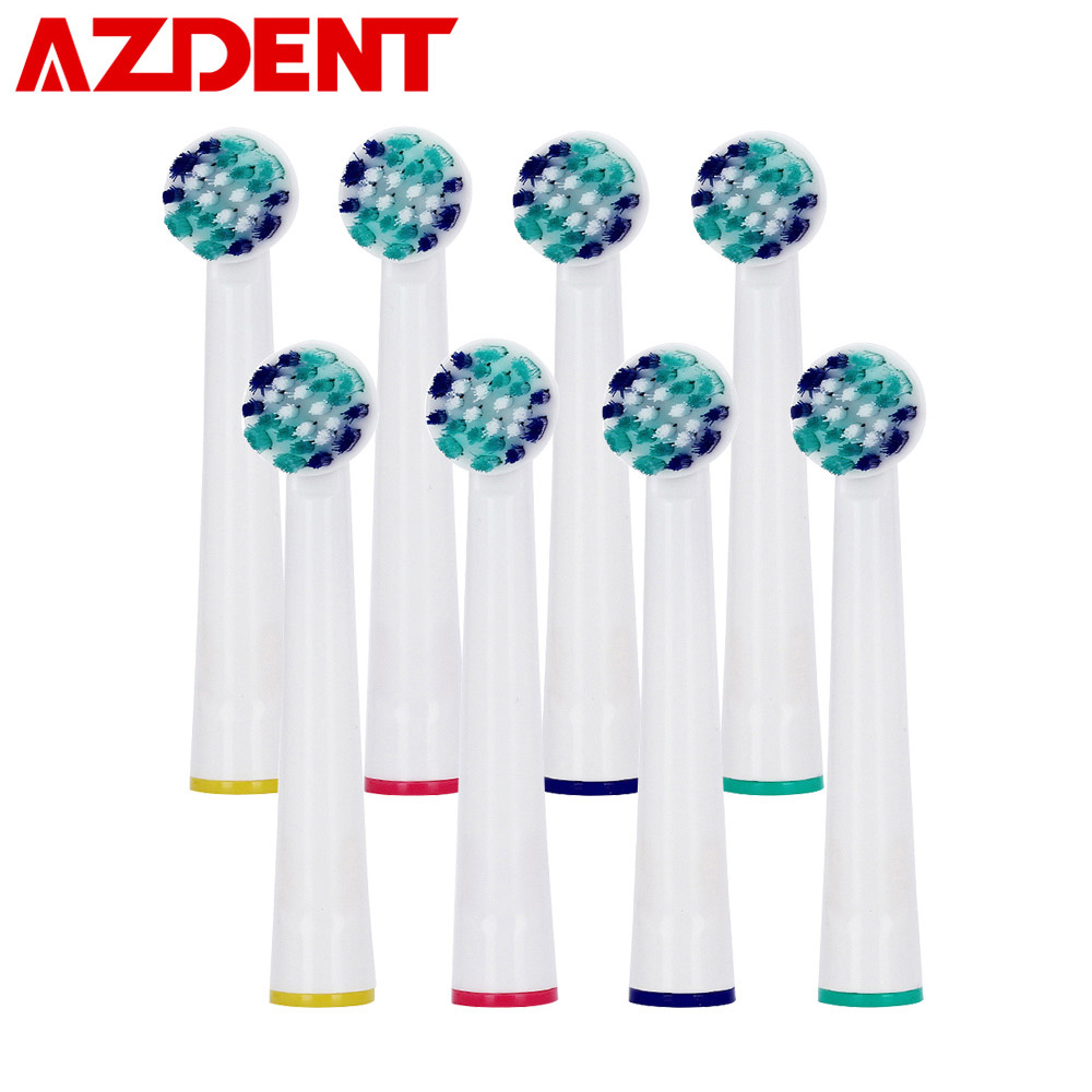 8PCS Replacement Toothbrush Heads for AZDENT YE02 / AZ-2 Pro Electric Toothbrush Oral Hygiene B Cross Floss Teeth Tooth Brushes 8pcs replacement toothbrush heads for azdent ye02 az 2 pro electric toothbrush oral hygiene b cross floss teeth tooth brushes