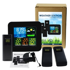 Image 5 - Digital Weather Station RCC DCF with 3 Indoor/ Outdoor Wireless Sensors 6 kinds of Weather Forecast Thermometer and Hygrometer