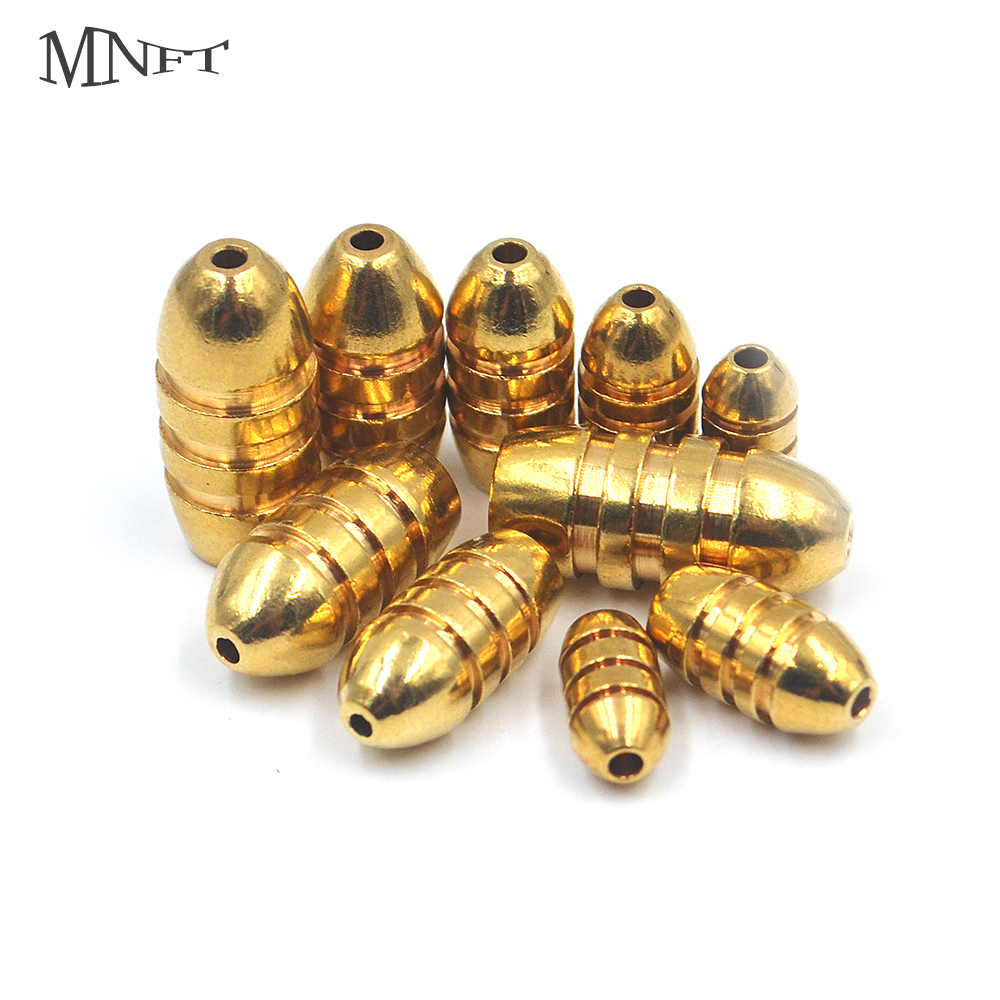 MNFT 5Pcs Brass Weight Sinker 1.8g 3.5g 5g 7g 10g Non-Lead Brass Sinkers Bullet Weights For Texas Rig