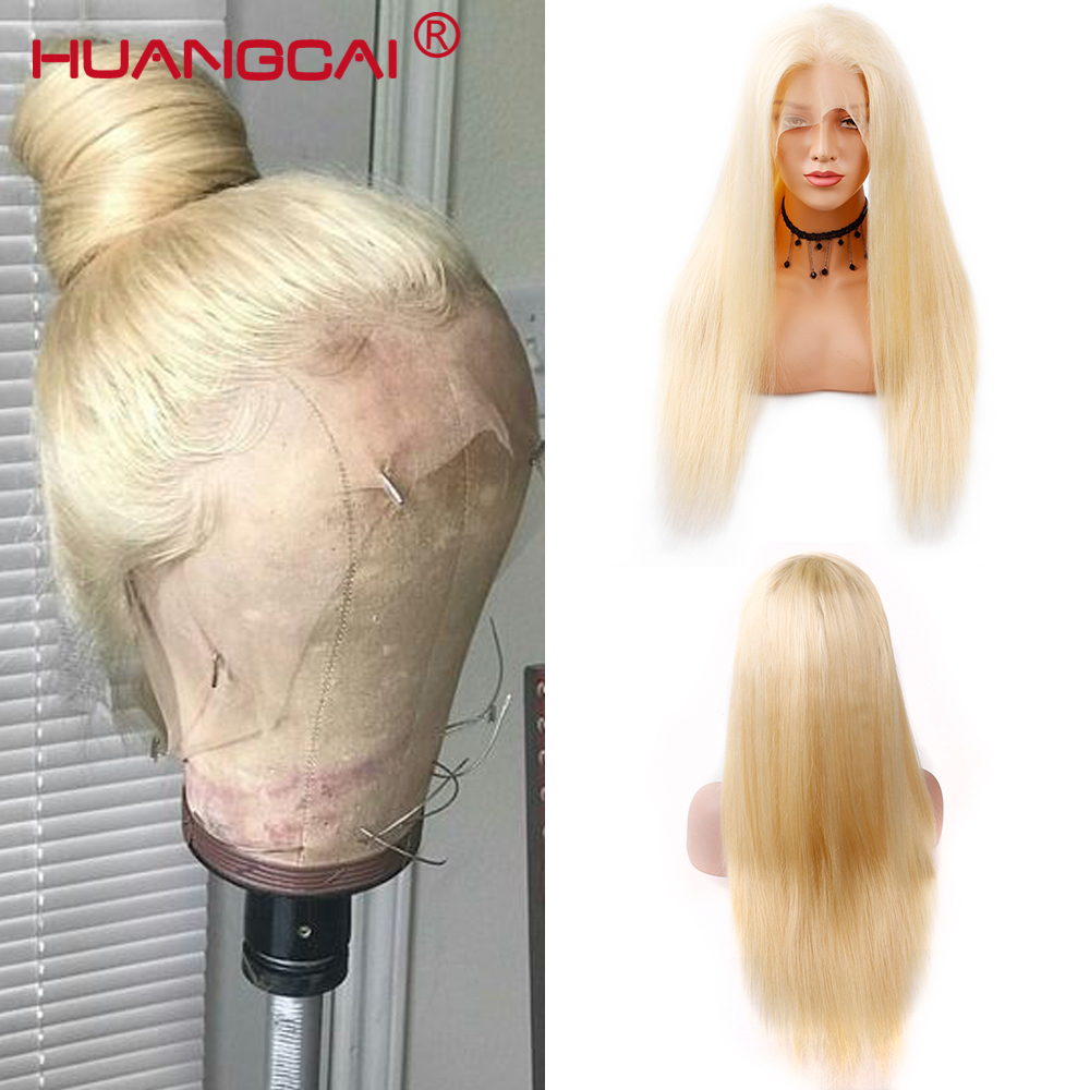 613 Honey Blonde Lace Front Wig Pre Plucked With Baby Hair Transparent 613 Glueless Lace Front Wig For Black Women Remy Hair Hair Extensions & Wigs